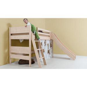 Kinder-Hochbett 'Bunk4Fun' mit Rutsche - aus Astfichte 90x200