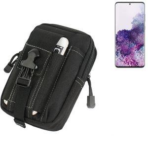 K-S-Trade Gürtel Tasche für Samsung Galaxy S20 Ultra Gürteltasche Holster Schutzhülle Handy Hülle Smartphone outdoor Handyhülle schwarz