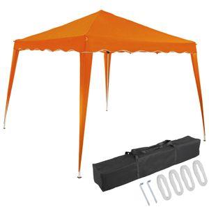 Pavillon oder Seitenwand 3x3m UV-Schutz 50+ wasserdicht faltbar inkl. Tasche Faltpavillon Zubehör Pop Up Zelt Capri, Farbe:orange