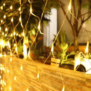 LED Lichternetz 3x2m 192 LEDs Lichterkette Netz für Weihnachten Partydekoration Wohnzimmer Kinderzimmer, Anschließbar bis zu 3 Sätze, Warmweiß