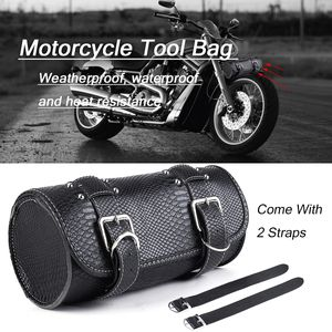 Motorrad Satteltasche Werkzeugrolle Werkzeugtasche Gepäck Kunstleder Für Harley
