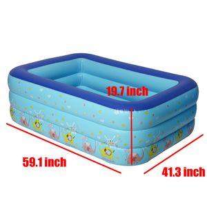 Sunnyme Aufblasbarer Pool 150 x 105 x 50cm Planschbecken Kinderbecken Family Pool Schimmbecken Kinderpool