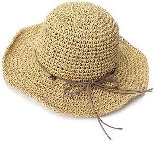 Stroh Sommerhut mit Sonnen Shade für Damen schlaffer Strand Sonnenhut Breite Krempe