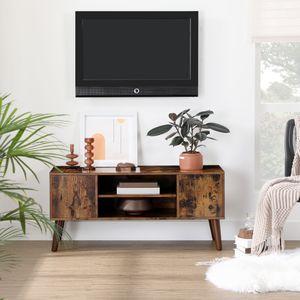 VASAGLE Lowboard 2 Türen | TV-Regal 110 x 50 x 40 cm | Fernsehtisch Holzoptik | Retro-Möbel | Fernsehschrank Vintage LTV08BX