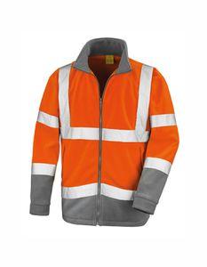 Safety Microfleece Arbeits Jacke - Farbe: Fluorescent Orange/Workguard Grey - Größe: M