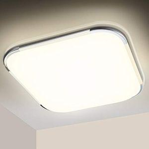 karpal LED Deckenleuchte 18W, 1530LM Led Deckenlampe, Flimmerfreie Wohnzimmerlampe, Neutralweiss 4000K, Schlafzimmerlampe Kuechenlampe Kinderzimmerlampe Badlampe Flur Lampe, IP44 Schutzart