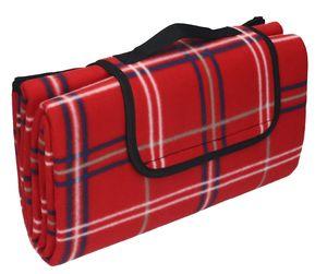 Betz Picknickdecke Reisedecke Stranddecke Campingdecke Isomatte Outdoor wasserdicht Größe 130x150 cm, Farbe rot