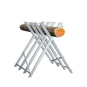Riossad Saegebock Kettensaege klappbar Metall Holzsaegebock 150KG Zahnung Holz