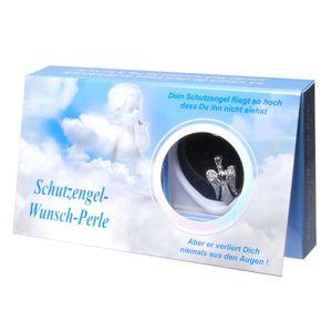 Schutzengel Wunschperle mit Halskette im Geschenkkarton Perle Engel Schmuck Kette