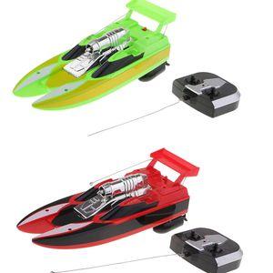 2x Mini RC Boot Fernbedienung Schnellboot Kinderspielzeugschiff Für Pools \\u0026 Seen