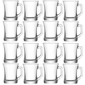 12x LAV ZEN Teegläser mit Henkel Cappucino Kaffee Henkelglas 225ml Tassen ZPL404