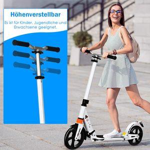 GOPLUS Höhenverstellbarer Tretroller, Klappbarer Scooter mit Tragegurt & Fußständer, Cityroller aus Aluminiumlegierung, mit großen PolyurethanRäder, für Erwachsene & Kinder ab 8 Jahren, belastbar bis 100 kg