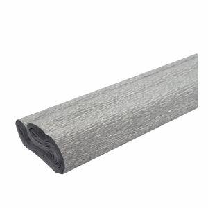 Creleo - Krepppapier silber 50x250 cm Rolle färbt nicht ab bei kontakt mit Wasser