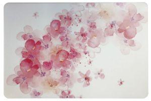 Schreibtischunterlage Aquarell Blumen auf weißem Grund 40 x 60 cm abwischbar