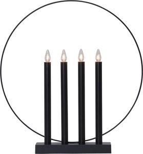 Fensterleuchter 'Glory' - 4flammig - warmweiße Glühlampen - H: 45cm - Schalter - Schwarz