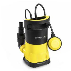 TROTEC Klarwasser-Tauchpumpe TWP 4005 E flachsaugend, 400 Watt Leistung, bis zu 7.000 Liter Wasser (max. 7,5 m Tiefe), Fremdkörper bis 5 mm, Automatisches Ein- und Ausschalten