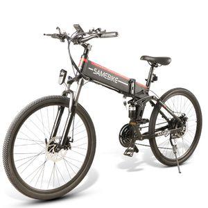 "SAMEBIKE Elektrofahrrad Mountainbike 10.4Ah 48V 500W E-Bike 26""Fahrrad mit Motor Faltbares Fahrrad 30km/h bis150kg --Schwarz"