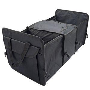 Auto Faltbox Kofferraum-Organizer, Faltbare Autotasche, Faltkorb, Aufbewahrung Taschen, Kofferraumtasche,Schwarz