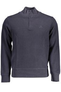 GANT Herren Sacker Rib Half Zip Sweatshirt, Blau XXL