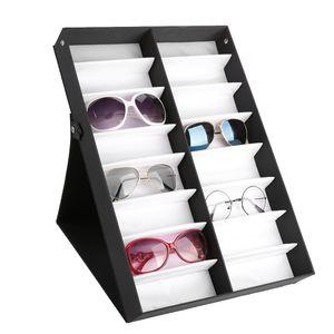 Brillenbox 16 Brillen Brillenkoffer Vitrine Sonnenbrillen Case Aufbewahrungsbox