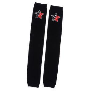 Frauen Damen Winter warme Stulpen Baumwolle Socken Leggings roten Stern Farbe roter Stern