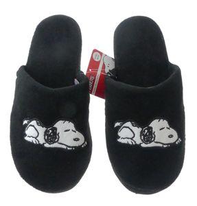 Hausschuhe Snoopy Damen weich Disney Peanuts schwarz warm Kinder Schlappen Slipper, Größe TVM Europe:36/37, Farbe TVM Europe:schwarz
