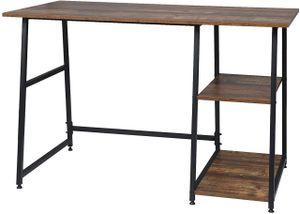 EUGAD 0084ZZ Schreibtisch Computertisch Laptoptisch Bürotisch mit 2 Ablageflächen aus MDF und Metall 120x60x76cm Holz Vintage