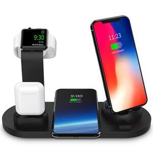 Kabelloses Ladegerät, 3-in-1-Ladestation für Apple Watch und Airpods, Ladestation für mehrere Geräte, Qi Fast Wireless-Ladestation Kompatibel mit iPhone X / XS / XR / Xs Max / 8/8 Plus