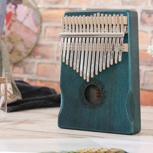 Mini 17 Tasten Daumen Klavier Musikinstrumente Kalimba Mit Melodie Hammer YIF200831661