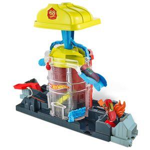Hot Wheels City Feuerwehr-Einsatzzentrale Spielset