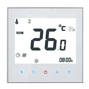 Anself 16A 95-240V Raumthermostat thermostat Fußbodenheizung Programmierbares wöchentliche LCD-Display Touchscreen Wasser Heizung Thermostat Raumtemperaturregler