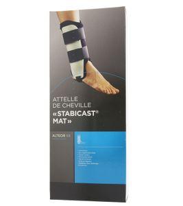 ALTEOR Sprunggelenkbandage unterstützende Bandage Stabicast Schoner Schwarz-Weiß, Größe:3