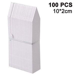 100 STK Plastik Pflanzenschilder Weiß zum Beschriften Pflanzenstecker für Pflanzen