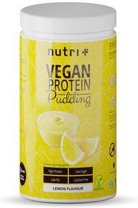 PROTEIN PUDDING ZITRONE Vegan 500g - 83,4% Eiweiß - 113 Kalorien - Low Sugar Dessert - Zitrone Geschmack - Zitronenpudding - Laktosefrei - Glutenfrei