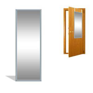 Türspiegel Wandspiegel Garderobenspiegel Spiegel schrankspiegel Ankleidespiegel Dekoration Hängend  Schlafzimmer Wohnzimmer Badezimmer F0015070 34cm x 94 cm x 1.5 cm  Grau