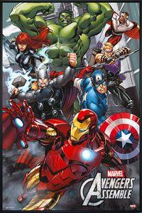 The Avengers Poster Marvel Comics(91,5x61cm) gerahmt