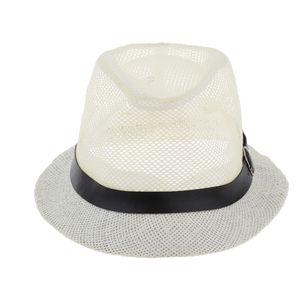 Sommerhut Panama Sunhat Webart Strohhut für Sonnenschutz M Weiß