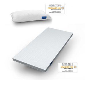Genius eazzzy Matratzentopper 90x200 cm + Kissen 40x80 cm Topper Visco Set Bett; A81267
