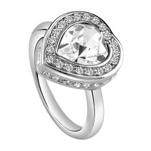 Guess Damen Ring Edelstahl silber UBR28507, Ringgröße:54 (17.2 mm Ø)