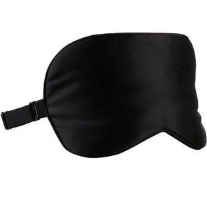 Schlafmaske - 100% Reine Seide - schwarz