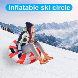 Die Winter Heavy Snow Tube bietet aufblasbare Schlitten für Kinder und Erwachsene