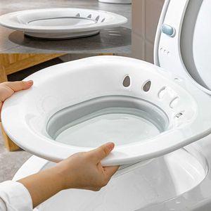 Faltbare Sitzbadewanne Auf Der Toilette Für Schwangere Hämorrhoiden Vermeiden Sie Es, Grau Zu Hocken Farbe Grau