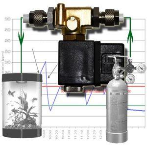 CO2 Nachtabschaltung Magnetventil PH-Regler Meter Anlage Ventil System MV1