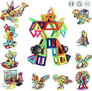 Innoo Tech Magnetische Bausteine, 108tlg Konstruktionsbausteine, Inspirierende Bauklötze Baukasten, Magnetbausteine, Magnetspielzeug Lernspielzeug, Tolles Geschenk für Baby Kleinkind ab 3 Jahre