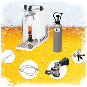 Komplett Set - Zapfanlage, Bierkoffer, Durchlaufkühler PYGMY 20 1-leitig Trockenkühler, 25 Liter/h, , Green Line, Zapfkopf:ohne