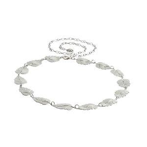 Silberblatt Kettengürtel für Damen 100 cm