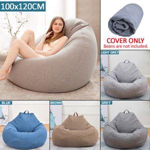 100*120CM No Filling Sitzsack Sofa Gaming Sessel Stuhl Gammer Sitzkisse Sack -Brown