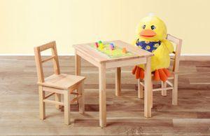 Kindertisch und 2 Kinderstühle kernbuche geölt Kindersitzgruppe