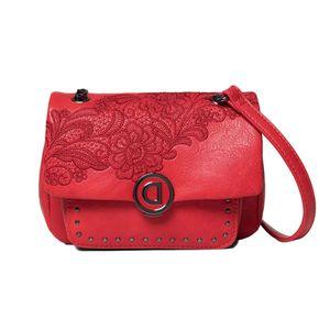 Desigual Bols Melody Zurich Mini Damen Tasche in Rot, Größe 1