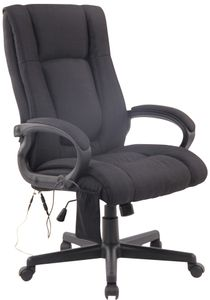 CLP Bürostuhl XL Sparta XM Stoff höhenverstellbarer, drehbare und mit Massagefunktion, Farbe:schwarz